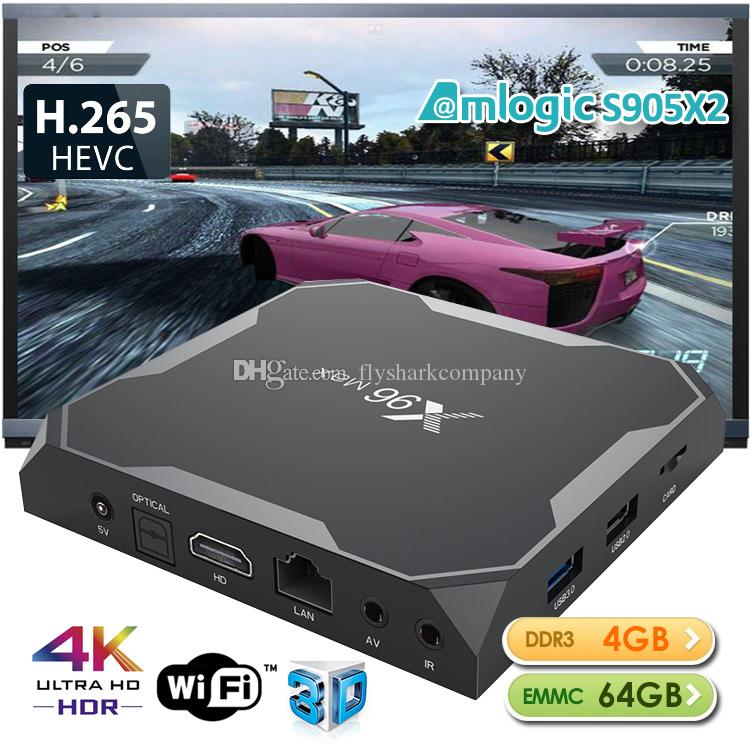 4GB 64GB iptv box tv boxes with S905X2 chipest android 8 1 smart media  player high quality dual band wifi internet tv box 2019