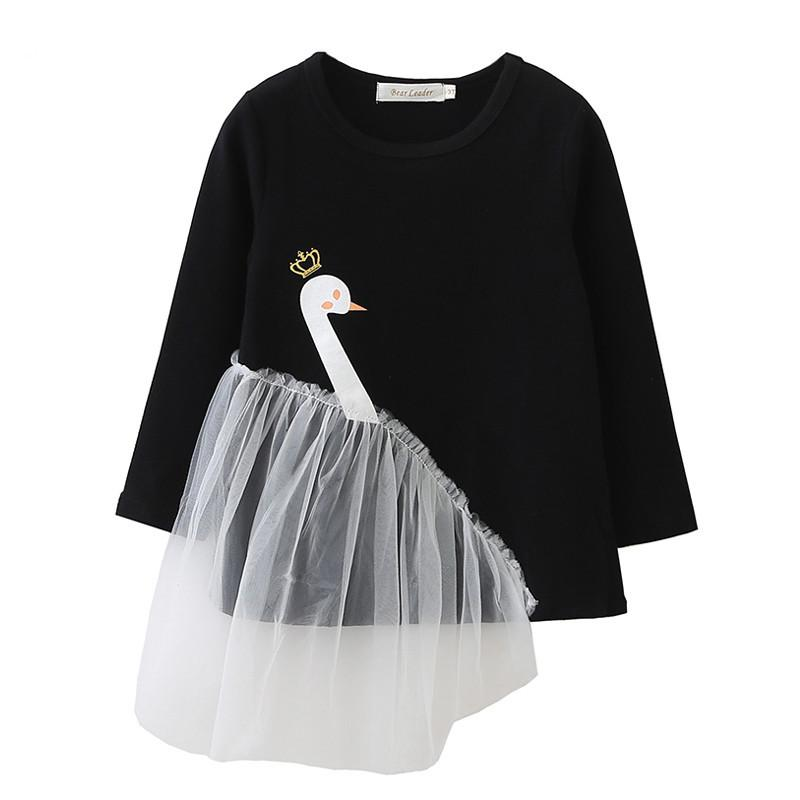 2cb9a6d7836d 2019 Little Girl Dress Novelty Swan Lace Solid Cotton Dress Shirt For 3  7years Girls Kids Children Cosplay Tops Clothes From Max4072, $11.95    DHgate.Com