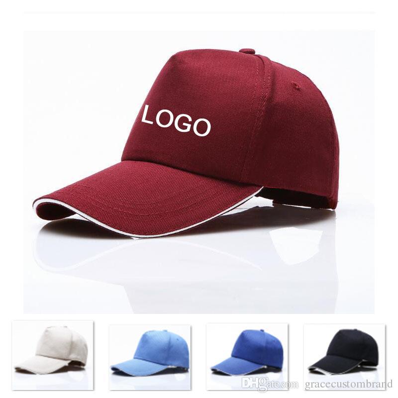 Custom Adult Trucker Cap 5 Panels Sandwich Peak Curved Visor Snapback Custom  LOGO Letter Hats Unisex Summer Baseball Hat Adjust Button Snapback Cap Cool  ... 303c428b60af