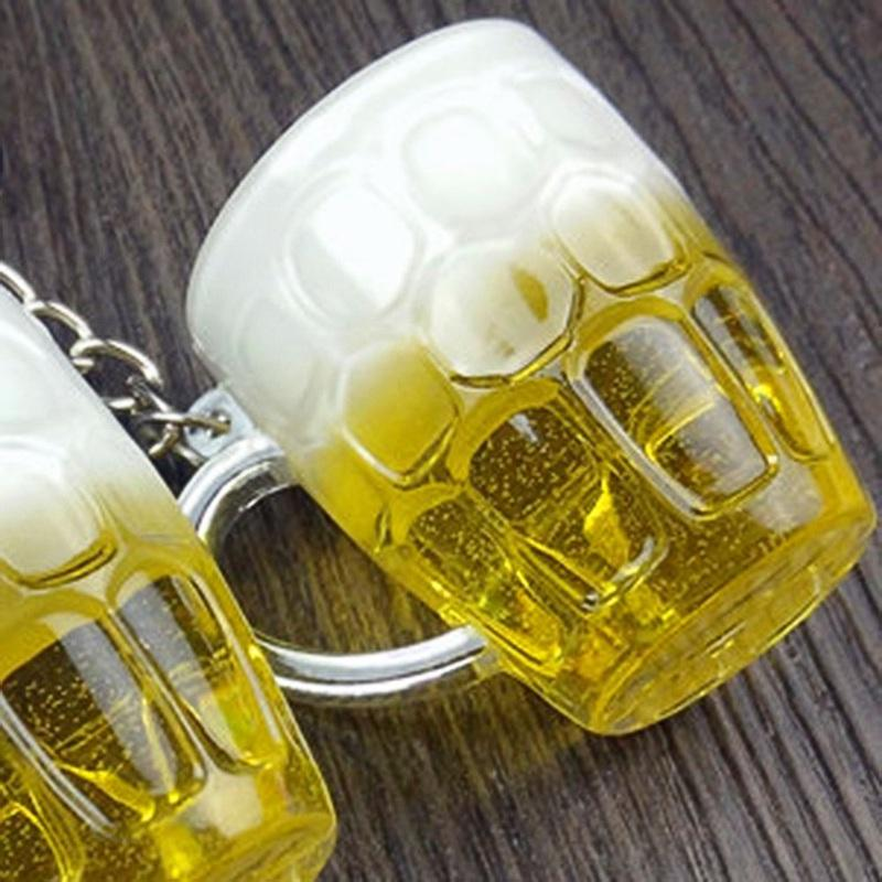 Creative Hot Women Men Resin Beer Cups Simulation Handicraft Key