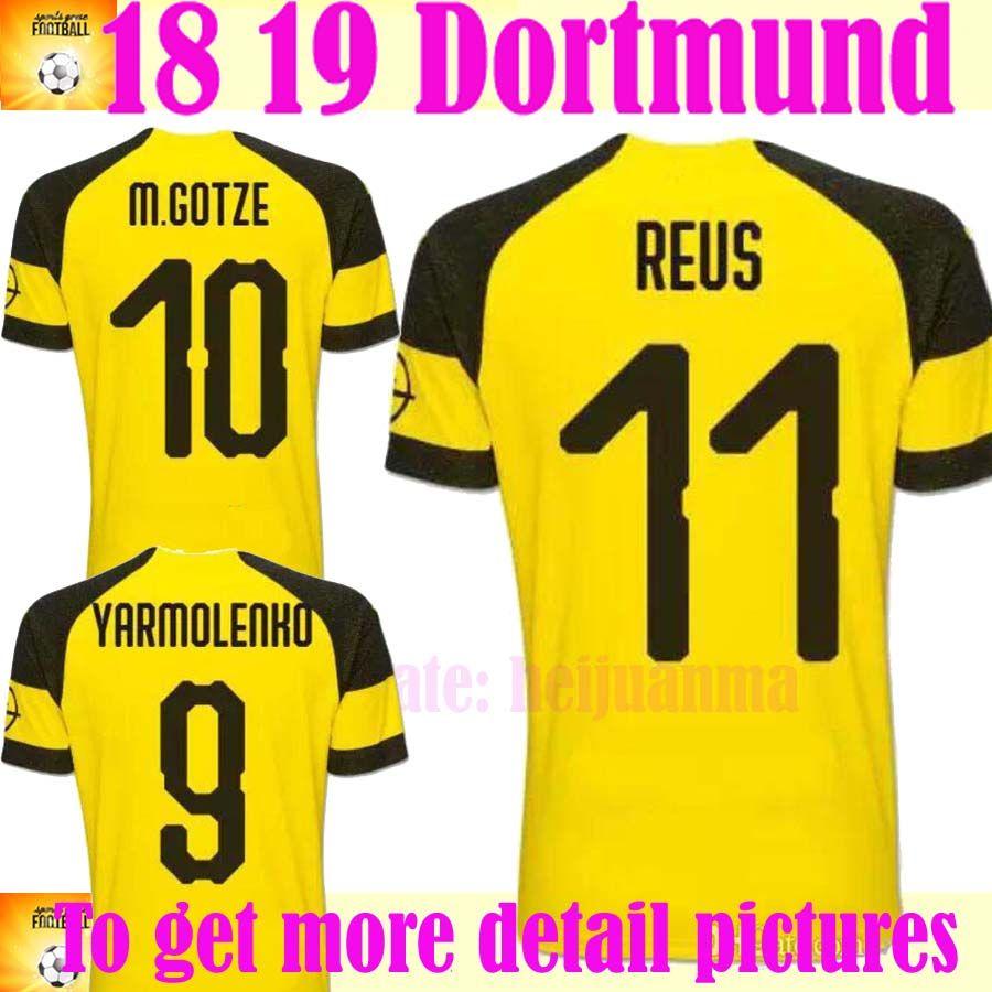 Dortmund REUS Home Away Soccer Jersey 2018 2019 Home BATSHUAYI GOTZE PULISIC  KAGAWA REUS Football Shirt Dortmund GOTZE PULISIC REUS Online with   15.85 Piece ... e24a24cda