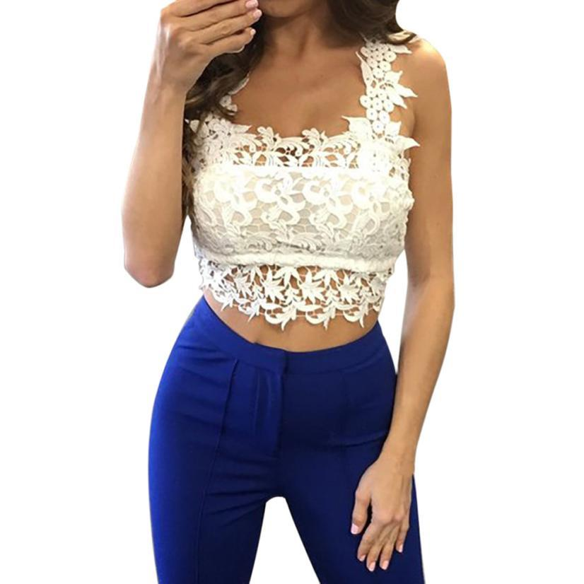 909b1aa66099a0 2019 Feitong Crop Tops Women 2018 White Lace Crop Top Plus Size Tank Top  Women Halter Neck Cropped Renda Tops Sexy Backless From Carawayo