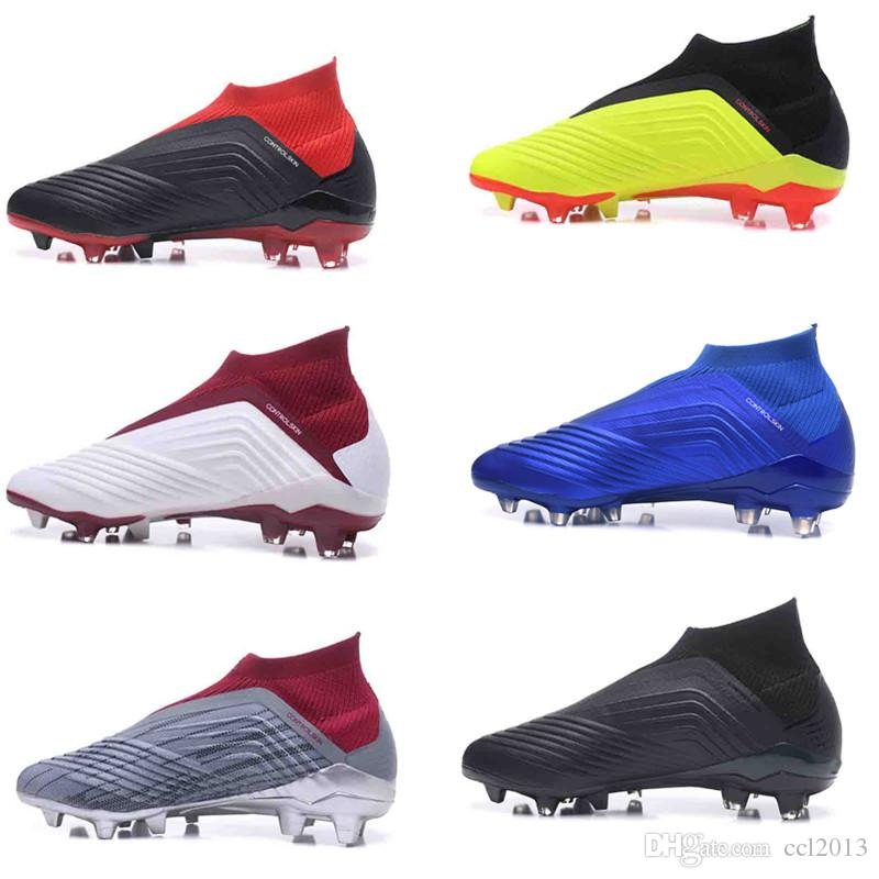 b2888b75385 New Original Predator 18+X Pogba FG Football Boots Mens High Ankle ...