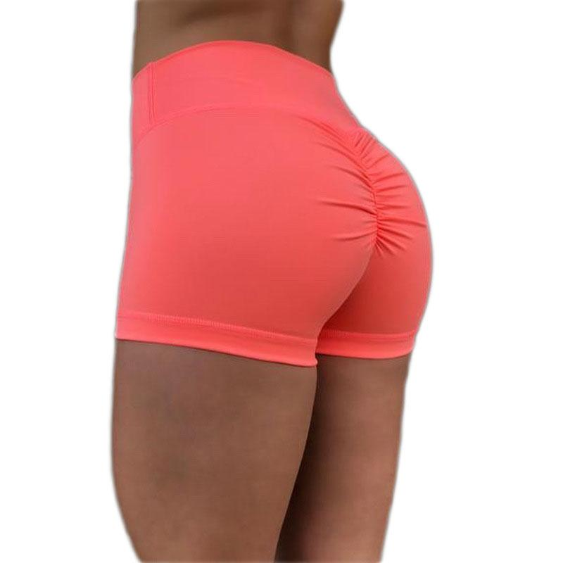 f389e71ef1e High Waist Sports Shorts For Women Running Tight Yoga Shorts Hip Push up  Running Short Training Fitness Bottom Sportswear Mujer