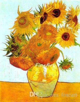 2019 Hand Painted Good Quality Wall Art Vincent Van Gogh Sunflowers