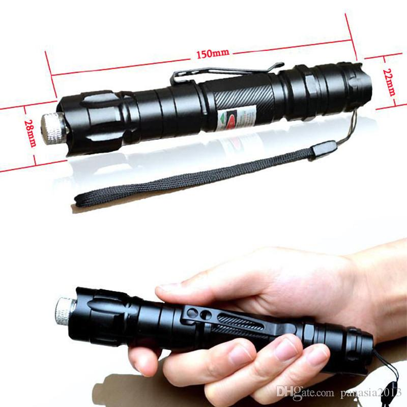 높은 전력 5mw 532nm 레이저 포인터 펜 18650 배터리 + 18650 충전기와 빔 빛을 방수 녹색 레이저 펜