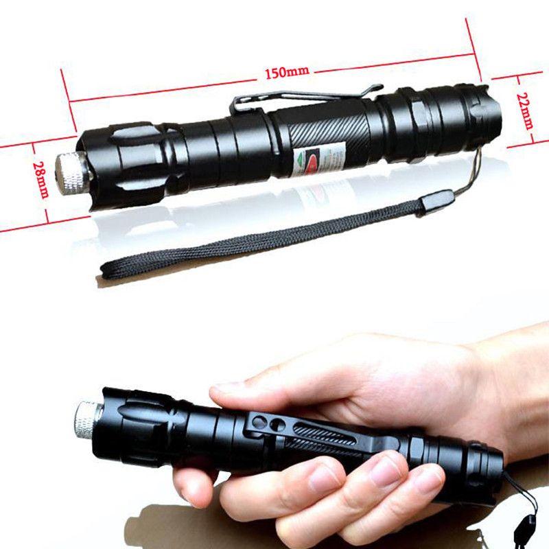 Laser-Zeiger-Stift der hohen Leistung 5mW 532nm grüner Laser-Stift-brennendes Lichtstrahl-Licht wasserdicht mit Batterie 18650 + Ladegerät 18650
