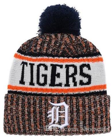 b927be623f Discount Tigers Beanie Sideline Cold Weather Graphite Official Revers Sport  Knit Hat All Teams winter Warm Knitted Wool Skull Cap