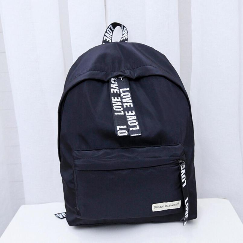 9b95562b6b Girls Boys Letter Teenage Capacity School Bag Travel Backpack ...