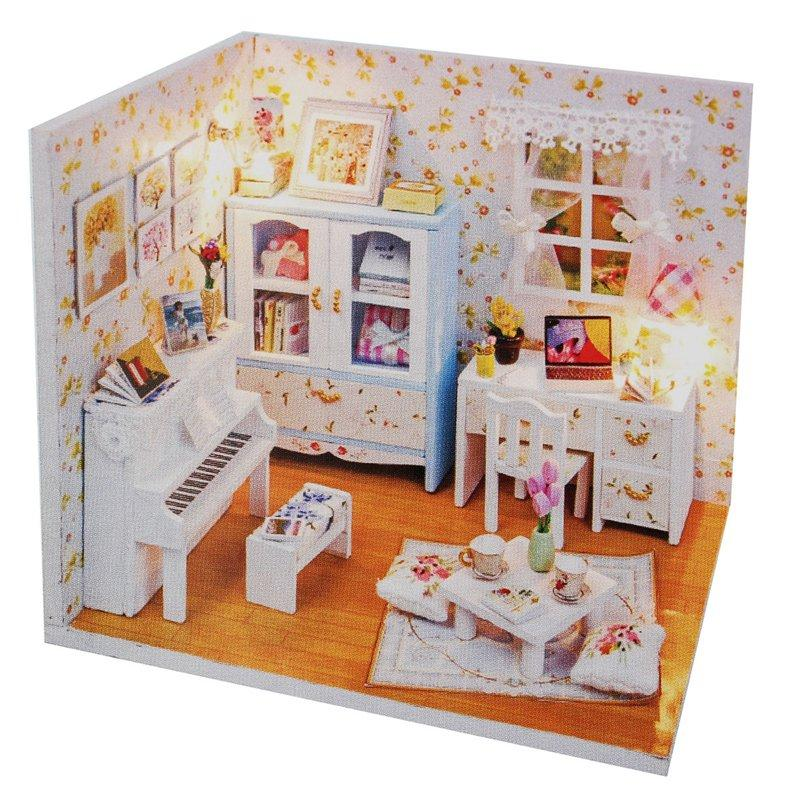 ... Dollhouse Assembling Toy Doll House Room Handcraft Toys And Gift  Dollhouses For Toddler Girls Dolls House With Furniture And Doll Family  From Toyshome, ...