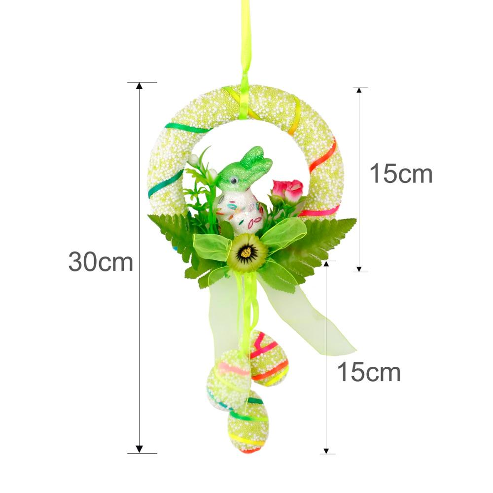 QIFU Schiuma Easter Egg Bunny Rabbit DIY Hanging Ornamento Buona Pasqua Decorazione Party Gift Home Decoration Wedding Birthday Party