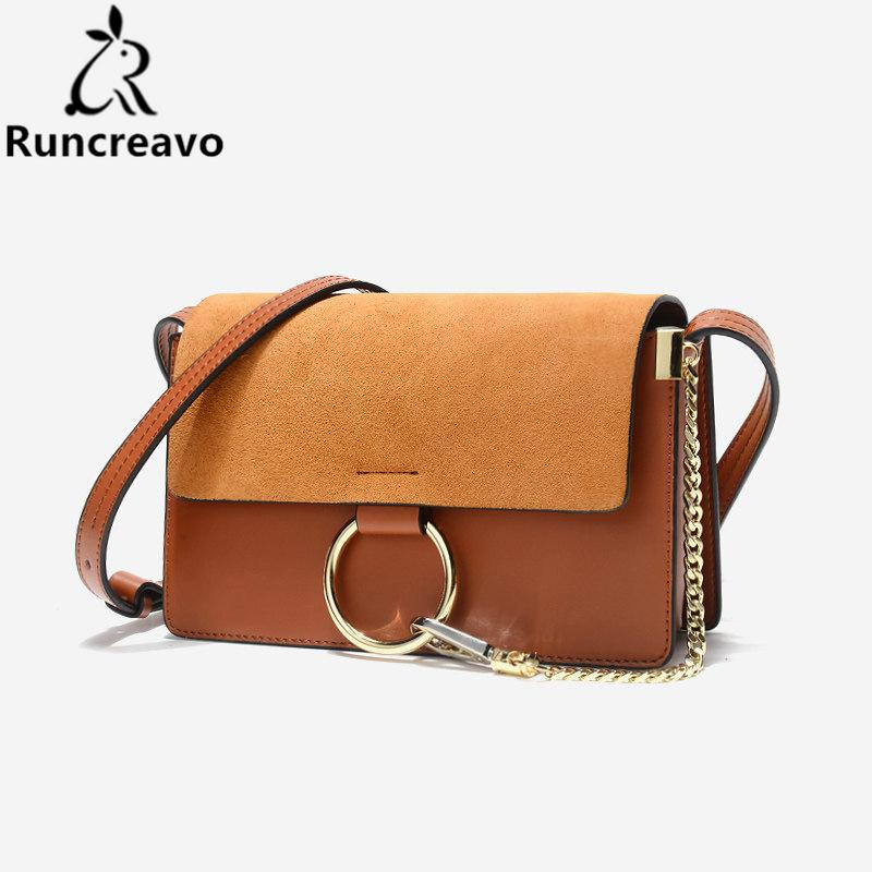 2018 Sale Popular Fashion Brand Design Women Genuine Leather Cloe Bag High Quality Real Cowskin Shoulder Bag Chain Organ