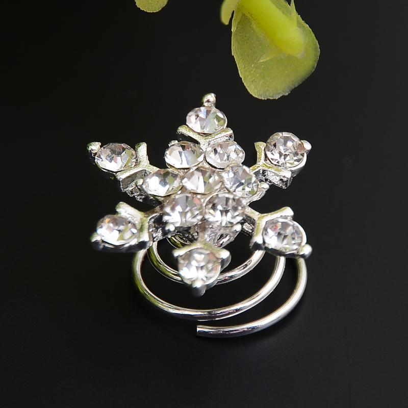 Imitated Pearl Crystal Wedding Bridal Hair Pins Twists Coils Flower Swirl Spiral Hairpins Fashion Jewelry Wholesale