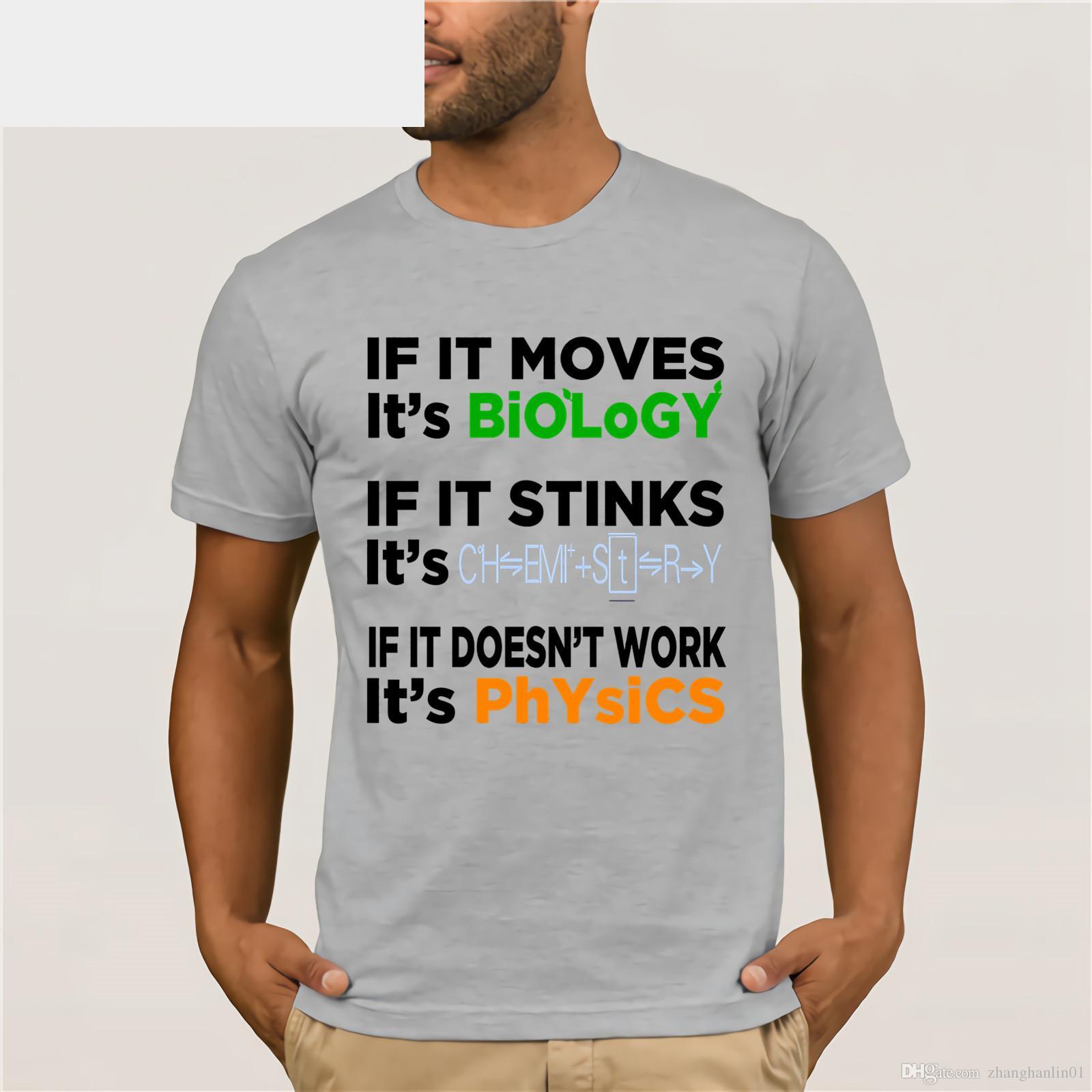 3c6061ad0 FUNNY BIOLOGY CHEMISTRY PHYSICS T-SHIRT Science Teacher Men's Hip Hop Short  Sleeve T-Shirt dress T-shirt