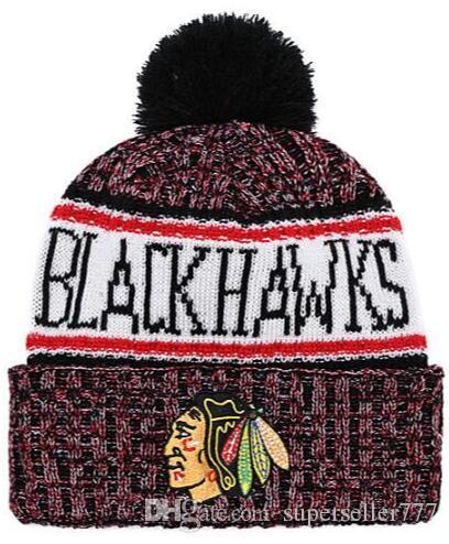 2019 BLACKHAWKS Beanies Winter Beanie Cap High Quality Men Women Skull Caps  Skullies Knit Cotton All Team Sport Football Baseball Hat Newborn Hats Knit  ... f6338ee83