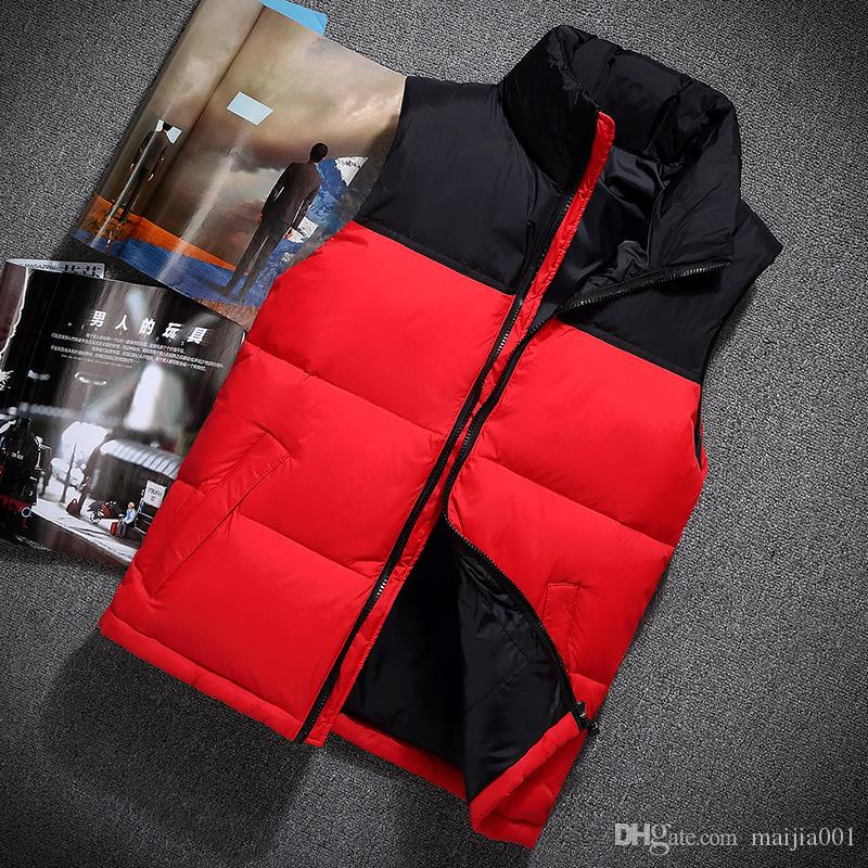 cd0ecfba1 2017 Brand Winter North Jacket Mens Freestyle Vest Goose Vest Down Face  Vest Down Jacket S Xxl Black Red From Maijia001, $30.16 | Dhgate.Com