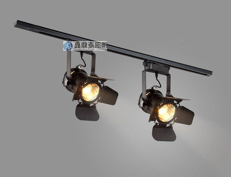 Loft Lamp Track Lighting Fixture Vintage led track lights clothing store bar restaurant ceiling lamps