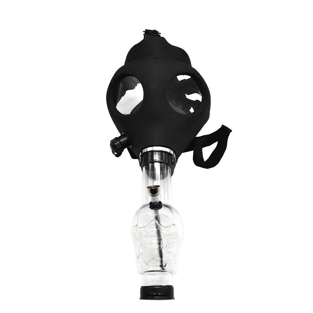 Silikonmaschen Kreative Acrylraucher-Gasmaske Rohre Acrylbongs Tabacco Shisha Water Pipe