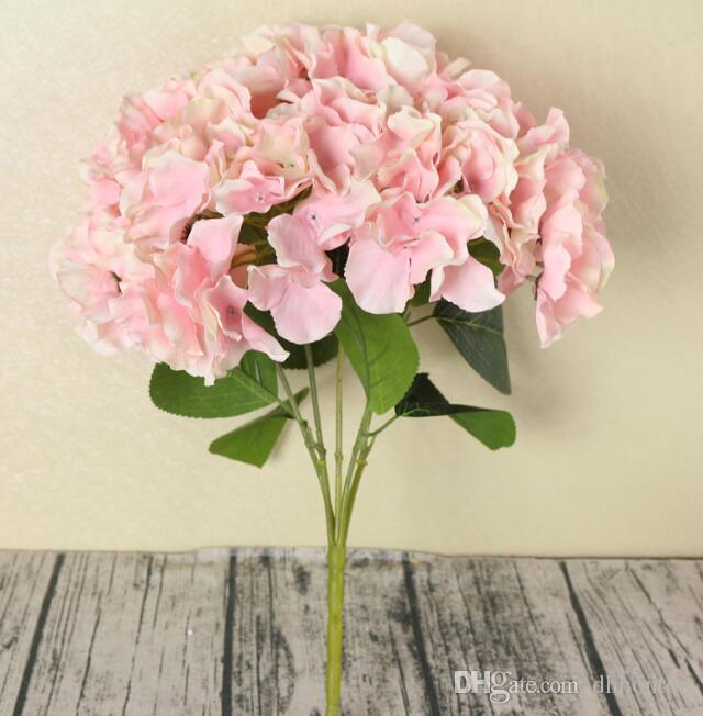 Hydrangea künstliche blumen 5 Big Heads Bounquet hochzeit dekoration künstliche pflanzen dekoration zubehör SF05
