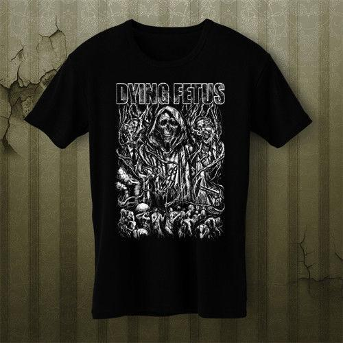 96c272ec7bde Dying Fetus death metal reign 100% Cotton Print Men O-Neck Free Shipping  High Quality Hot Sell Cannibal Corpse T-Shirt Tee S M L XL 2XL