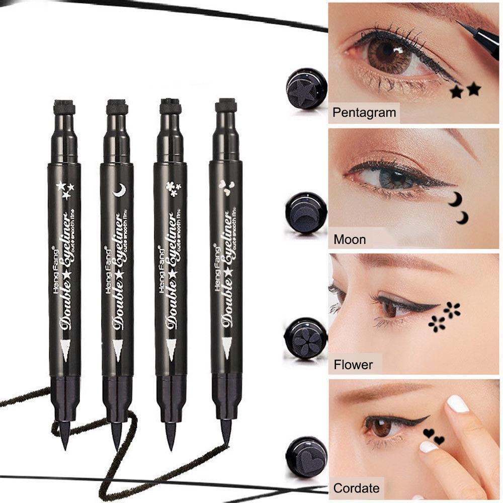 Waterproof Pro Cat Eye Stamp Eyeliner Pencil Tattoo Make Up Liquid Black Beauy Liner BBA162 Permanent Smokey Makeup