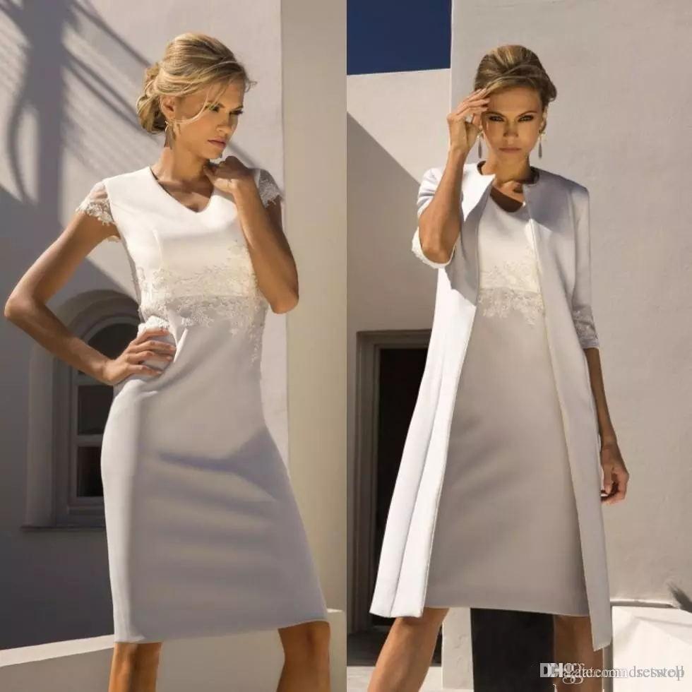 Kleid und mantel elegant