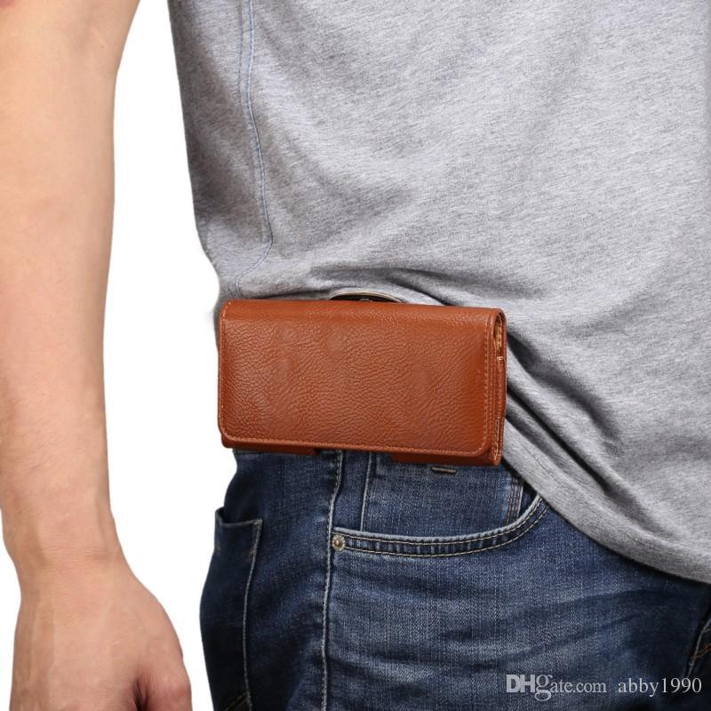 for Microsoft Lumia 550 Universal Belt Clip PU Leather Waist Holder Flip Pouch Case for Microsoft Lumia 550