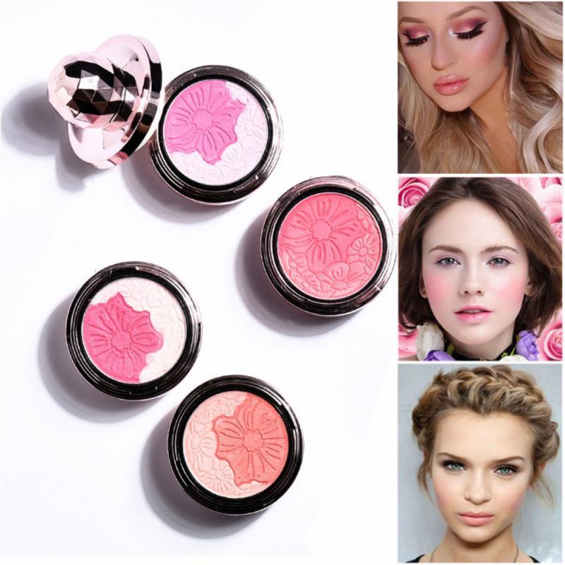 Großhandel 4 Farben Pure Mineral Gesicht Rouge Check Blusher Pulver