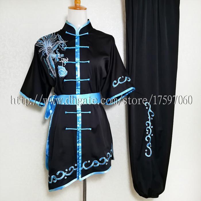 2c2d55d3f Roupas de uniforme de wushu Kungfu chinês roupas changquan roupas de Artes  Marciais trajes de Rotina para o menino menina homens mulheres crianças  menina ...