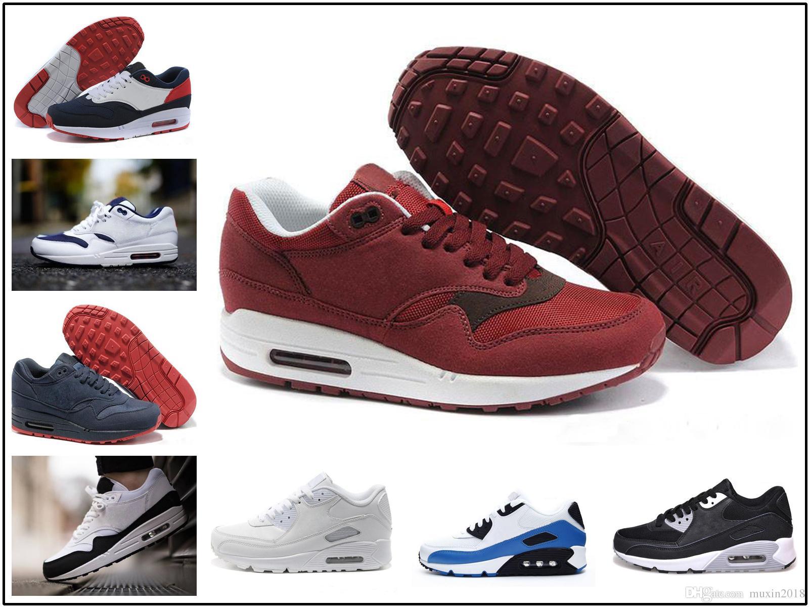premium selection 02a72 8d738 Acheter Nike Air Max 87 90 Airmax 87 90 Acheter Hommes Femmes 87 1  Chaussures De Course D entraînement Grises Just Do It Jewel Ultra 2.0  Maître Atmos Bred ...