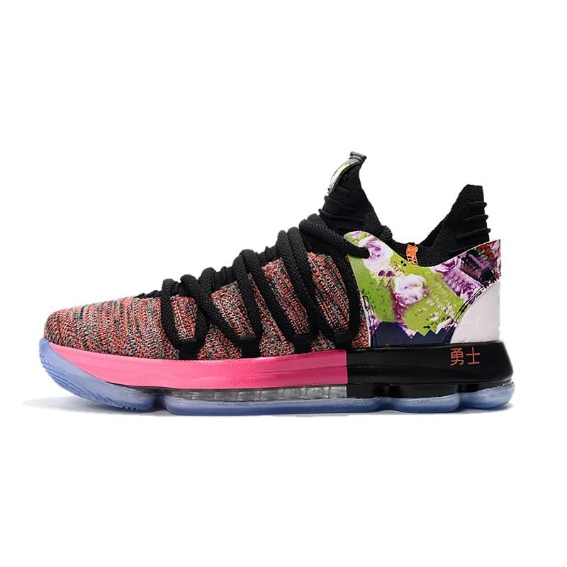 13e0c94b9ade 2019 Cheap 2018 New Mens What The KD 10 X Basketball Shoes Floral Ext Maxes  Zoom Air Kevin Durant KD10 Flight Sneakers Boots With Box For Sale From ...