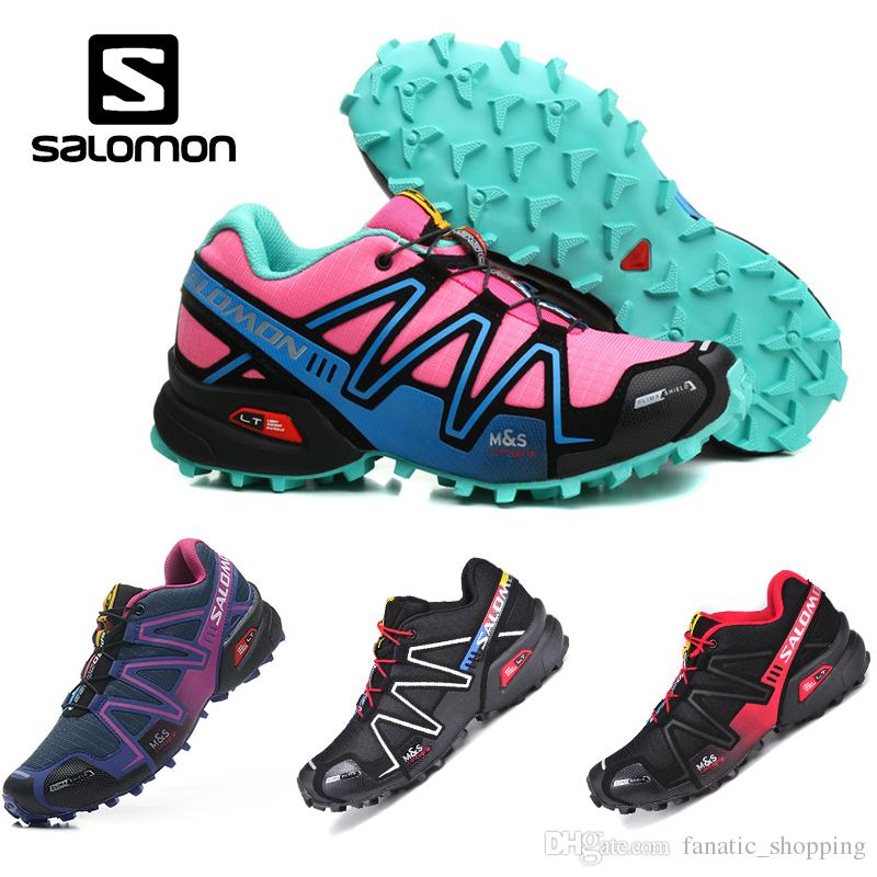 53319760e53e Salomon Speed Cross 3 CS Trail Running Shoes Women Pink Blue Speedcross III  Outdoor Athletic Sports Sneakers Size 5 9 Good Running Shoes Skechers  Running ...