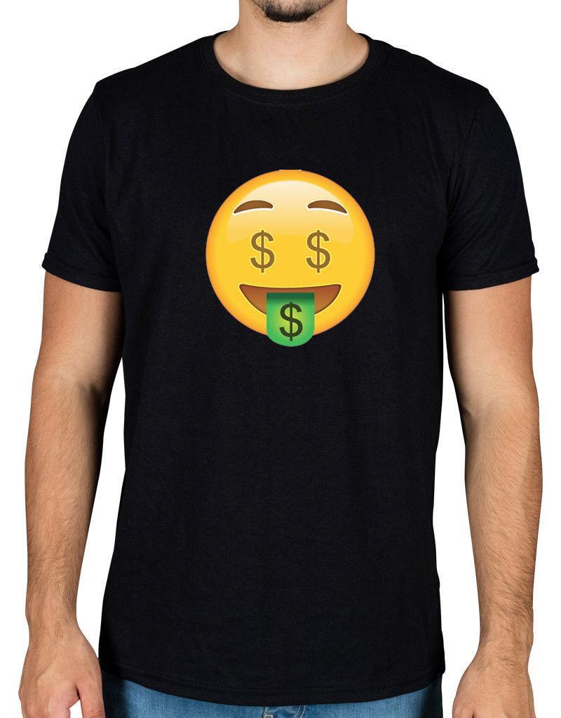 Compre Icono De La Camiseta Emoji De Money Face Divertida Novedad Android  Racks De Apple Dollar Smile 2018 Nueva Marca Para Hombre Camiseta De  Algodón De ... e429839c08f3a