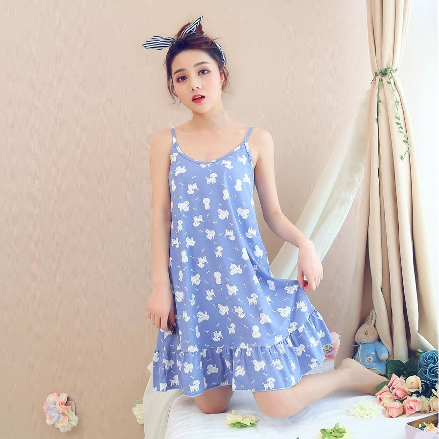 2018 Women Cotton Sleepdress Home Wear Maternity Clothing Sweet Cute ...