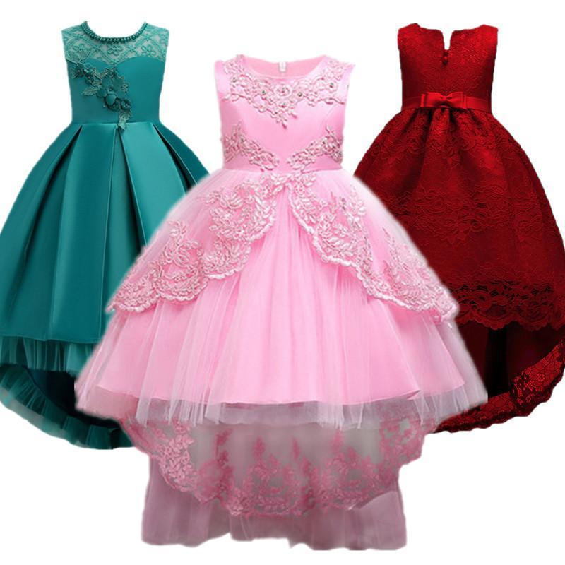 1b2c3ae738 Compre Vestido Da Menina Do Bebê Crianças Crianças Vestidos Para Meninas 2 3  4 5 6 7 8 9 10 Ano De Aniversário Outfits Vestidos Meninas Festa À Noite ...
