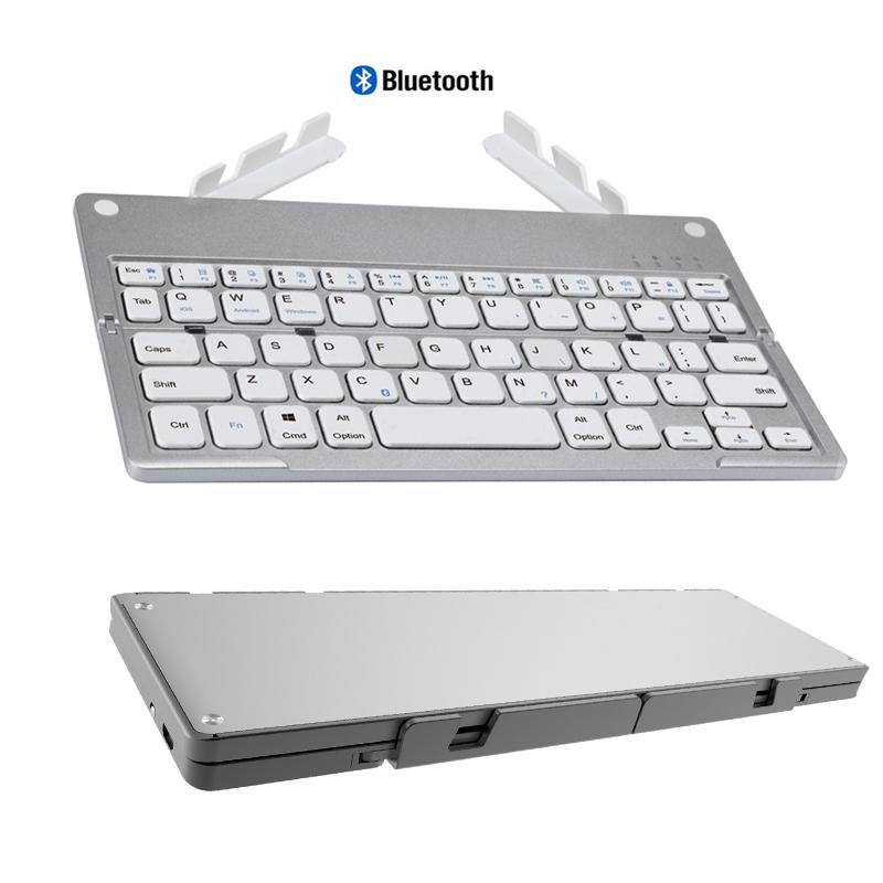 dba02fa9475 Landas Mini Pocket Folding Keyboard With Stand Hidden For IPhone Tablet Foldable  Bluetooth Keyboard With Stand For Xiaomi Huawei Keyboard With Stand ...