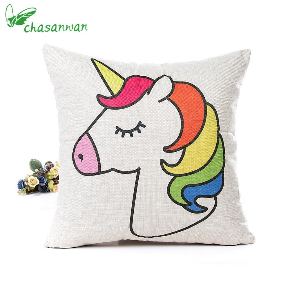 45*45cm Pillow Case Baby Shower DIY Unicorn Party Decoration Wedding Birthday Kids Room Decor Party Supplies Home Decor,Q