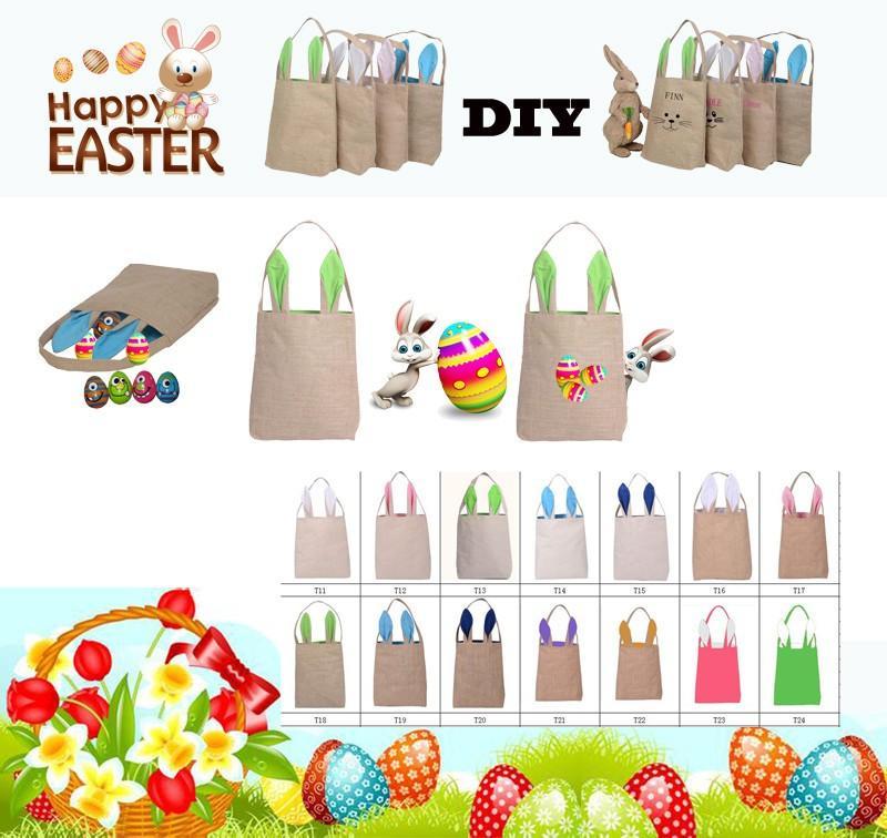 Easter Rabbit Ears Borsa a mano diablement fort i Bunny Ears borsa shopping bag Borsa dipinta a mano fai da te bambini nad regali di festa adulti