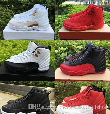 best service af7bd 444f7 Best Quality 12 12s White Gym Red Dark Grey Men Women Basketball Shoes Taxi  Blue Suede Flu Game CNY Sneakers