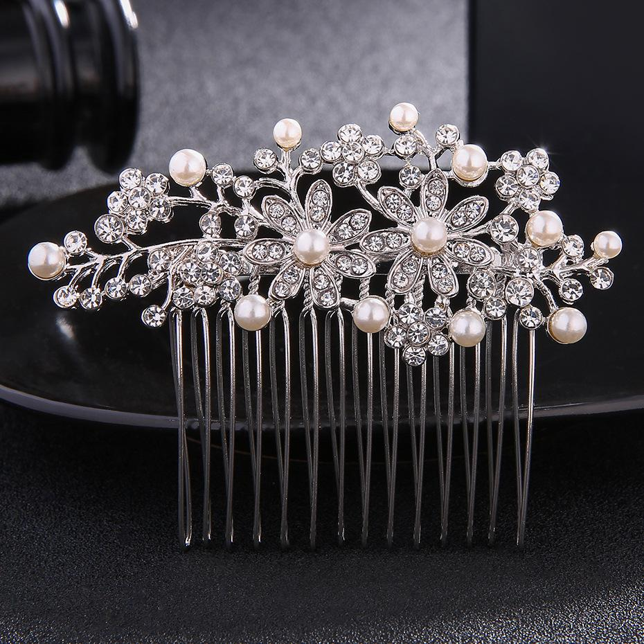 b533613065 Wedding Hair Jewelry Accessories for Bride Fashion Rhinestone Hair Combs  Decorations Hair Clip for Women Hairpins Tiara JCH041