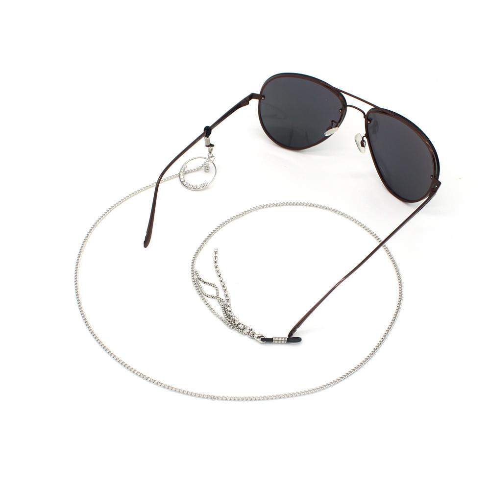1e6ab9cc258 2019 GL386 Silver Chain Women Rhinestone Eyeglass Accessories Sunglass  Strap From Fashluck