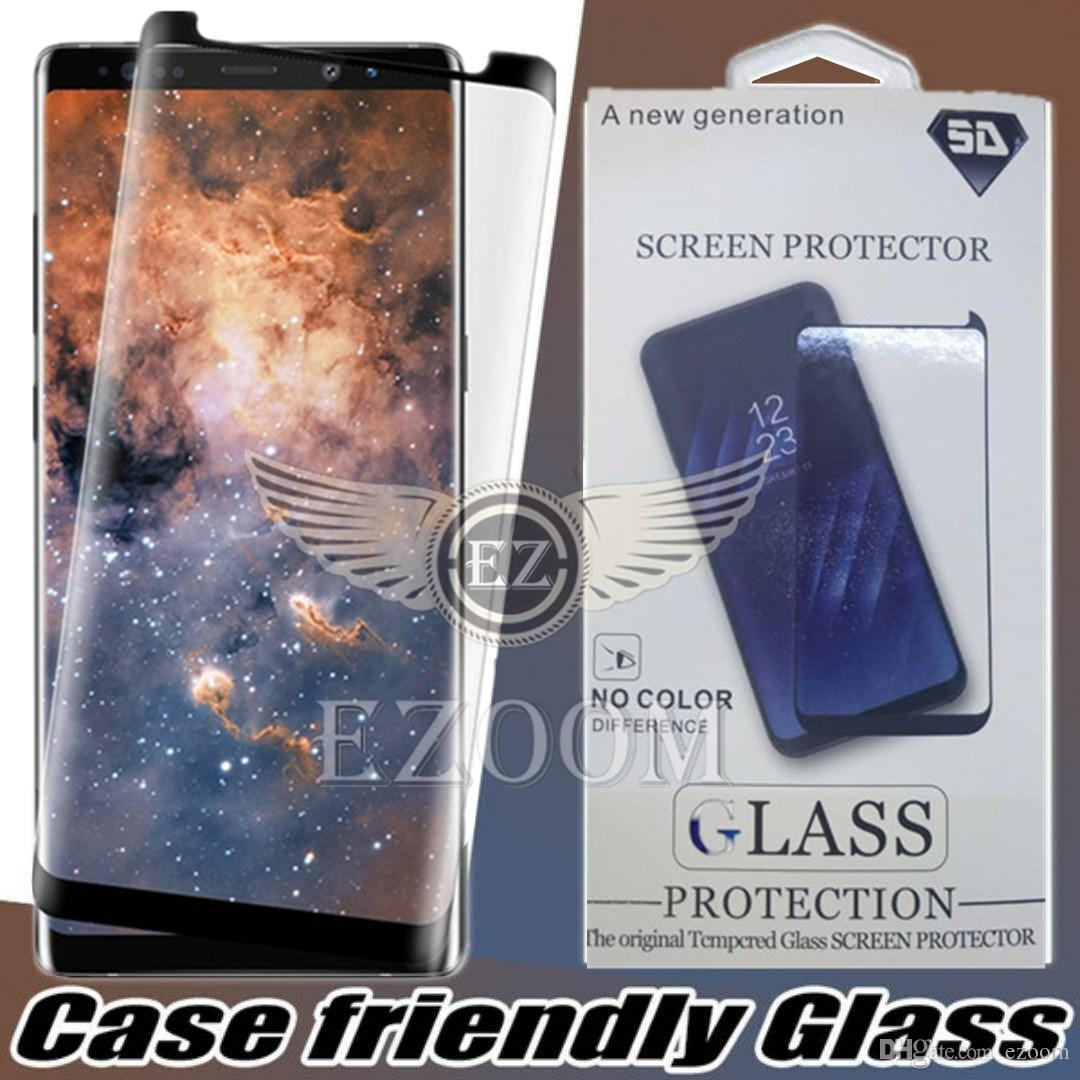 3D Glass For Samsung Galaxy S9 S8 Plus Note 8 Tempered Glass For Samsung S8 Plus Glass Screen Protector Film With Retail Package