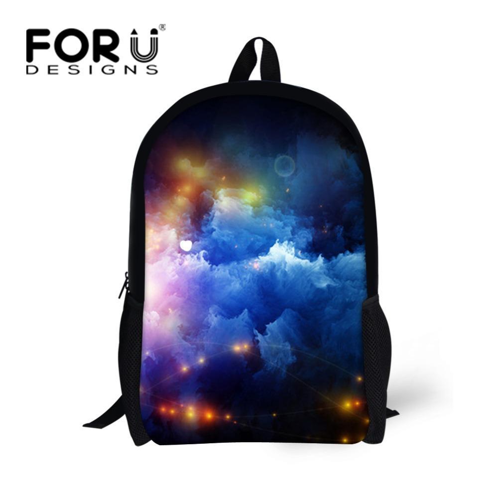 FORUDESIGNS Galaxy Star Universe Space Printed School Backpack For Teeange  Girls Boys School Bags Starry Night Schoolbags Women Brands Backpacks Kids  School ... 4de1da8d47