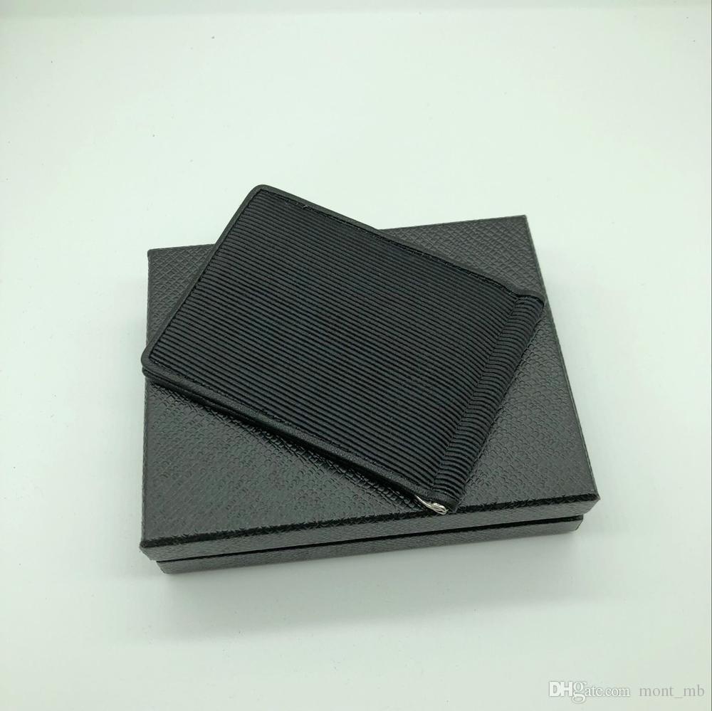 Neue Männer Luxus MB Leder Visitenkartenetui Brieftasche Clip Schwarz Kurze Kreditkarteninhaber Tasche M T Hohe Qualität Brieftasche