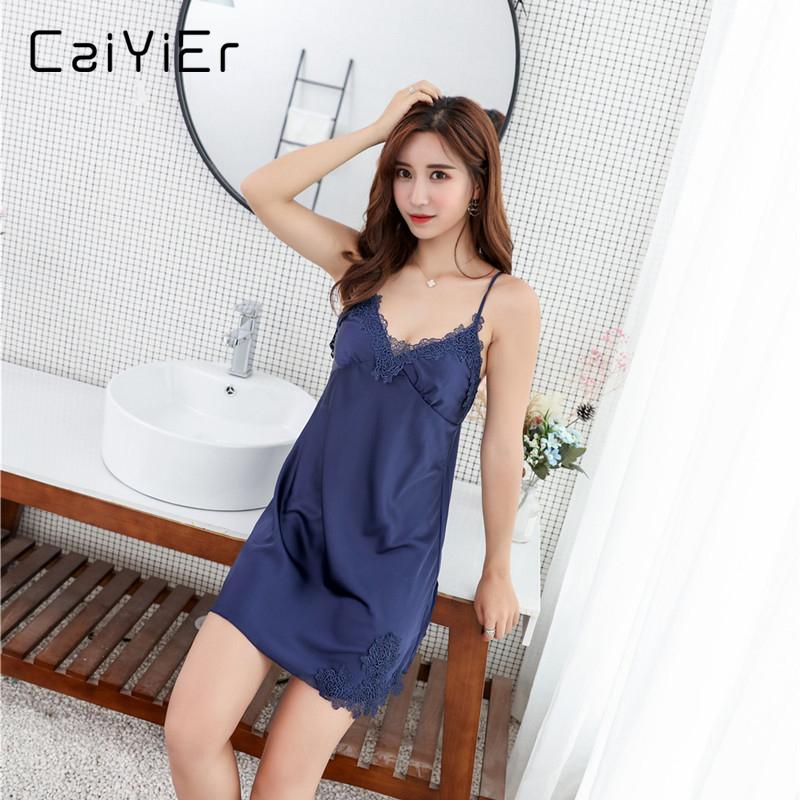 4886542f2 2019 Caiyier Sexy Women Lace Black White Women Sexy Spaghetti Strap Lingerie  Nightwear Simple Sleeveless Summer Sleepwear YX853 From Bevarly
