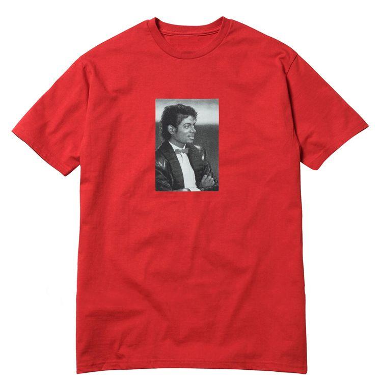 Michael Jackson Foto Tees Box Logo T Hip Hop Skateboard T-Shirt Männer Frauen 100% Baumwolle Casual T-Shirt Weiß Schwarz EU Größe LLWH0513