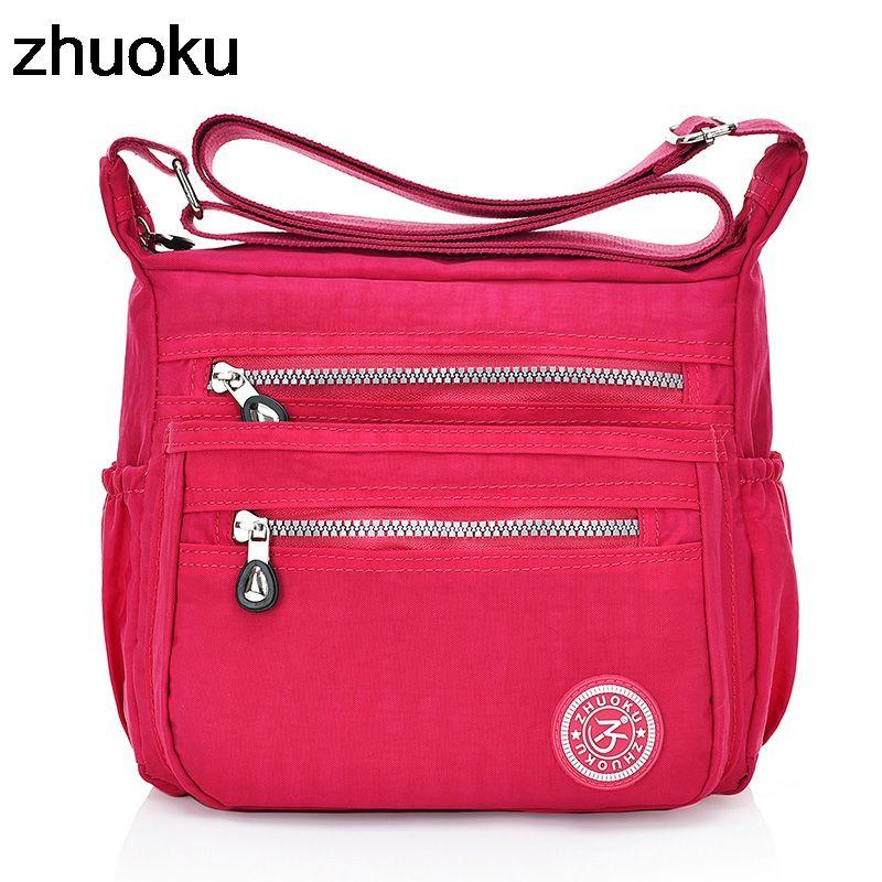 ZHUOKU Nylon Women Messenger Bags Small Purse Shoulder Bag Female ... 7bd9e06db9cf7