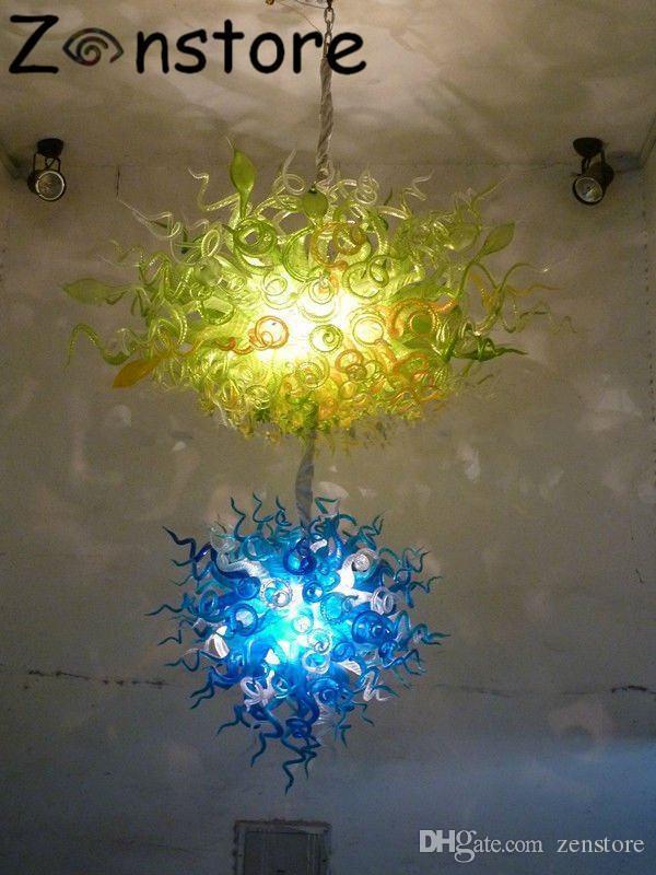 Moderne Große Hotel Kronleuchter 100% Handgefertigten Geblasenem Glas Kronleuchter 110 V / 240 V LED Licht CE UL Zertifikat Kronleuchter beleuchtung