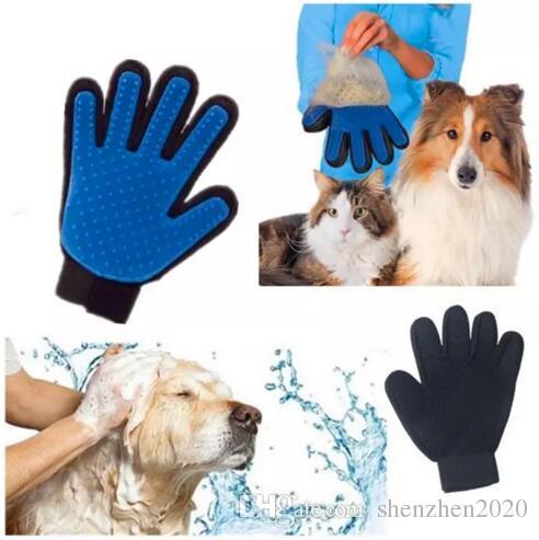 Haustier Reinigungsbürste Hundekamm Silikon Handschuh Bad Mitt Haustier Hund Katze Massage Haarentfernung Pflege Magie Deshedding Handschuh