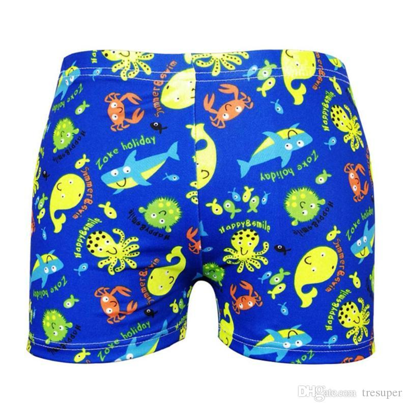 Verão Novo Bebê Meninos Natação Troncos 7-9Y Dos Desenhos Animados Floral Maiô Crianças Swim Shorts Crianças Criança Calças De Praia Swimwear